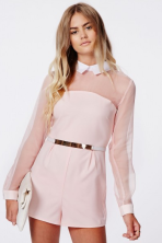 Missguided mesh dress dusty pink blush