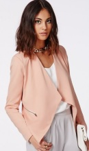 missguided jacket dusty pink blush