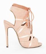 missguided valentina blush heels dusty pink lace up